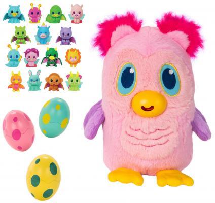 Купить Мягкая игрушка сова 1toy Дразнюка-несушка. Несовушка пластик текстиль плюш наполнитель 20 см, разноцветный, плюш, пластик, текстиль, наполнитель, Интерактивные мягкие игрушки