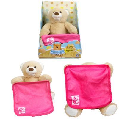 Купить Интерактивная мягкая игрушка медведь 1toy Мишка-Играет в Прятки искусственный мех текстиль пластик металл наполнитель 26 см, разноцветный, искусственный мех, пластик, текстиль, металл, наполнитель, Интерактивные мягкие игрушки