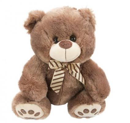 Мягкая игрушка медведь Fluffy Family Мишка Бантик искусственный мех наполнитель коричневый 30 см
