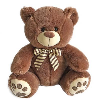 Мягкая игрушка медведь Fluffy Family Мишка Бантик искусственный мех наполнитель коричневый 40 см мягкая игрушка медведь волшебный мир мишка лапочка 45 см рыжий искусственный мех текстиль 7с 1413 ри