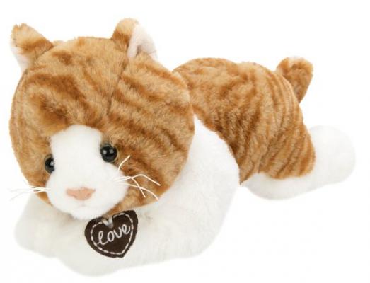 Мягкая игрушка кошка Fluffy Family Кошка Лежебока искусственный мех наполнитель белый 28 см мягкая игрушка котенок fluffy family крошка котенок бел 15 см белый искусственный мех наполнитель