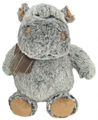 Мягкая игрушка бегемот Fluffy Family Бегемот искусственный мех пластмасса наполнитель серый коричневый 21 см hansa мягкая игрушка бегемот