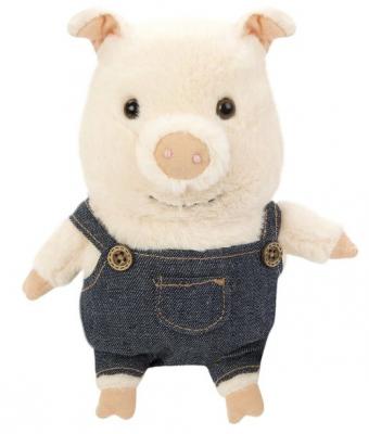 Мягкая игрушка свинка Fluffy Family Братец Свин искусственный мех трикотаж пластмасса наполнитель 15 см мягкая игрушка мышка fluffy family lady mouse