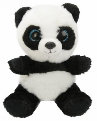 Мягкая игрушка панда Fluffy Family Крошка Панда искусственный мех наполнитель белый черный 15 см