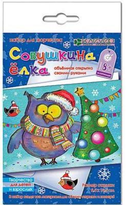 Купить Набор для изготовления открыток Клеvер Совушкина ёлка от 8 лет, Роспись новогодней игрушки