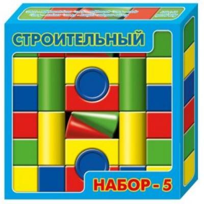 Купить Конструктор Десятое королевство Строительный набор-5 30 элементов, Пластмассовые конструкторы
