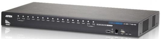 KVM-переключатель USB HDMI 16PORT CS17916-AT-G ATEN переключатель kvm aten cs692 at kvm audio 1 user usb hdmi 2 cpu usb hdmi со встр шнурами usb audio 2x1 2м 1920x1200 настол исп стандарт