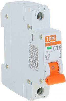 Автомат TDM SQ0206-0074 ВА47-29 1р 16А 4.5ка х-ка С автомат tdm sq0218 0021