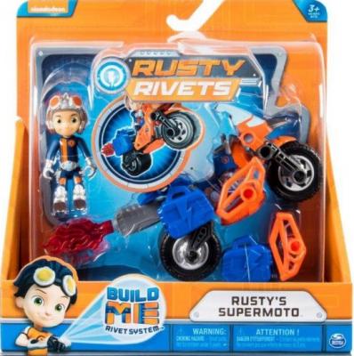 Набор фигурок Spin Master Rusty Rivets построй мотоцикл Расти