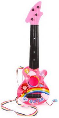 Гитара пластм.46 см, 4 струны, в ассорт, пакет пинцет металл пластм