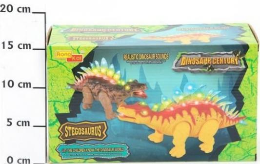 Динозавр Наша Игрушка Стегозавр от 3 лет коричневый- желтый игрушка