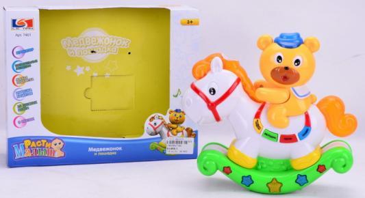 Интерактивная игрушка Наша Игрушка Медвежонок на лошадки от 1 года интерактивная игрушка ks kids девочка julia для купания от 1 года белый ка10419