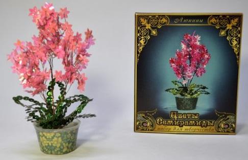 Набор для творчества Моя выдумка Люпины от 7 лет цветы семирамиды набор для творчества цветы семирамиды люпины
