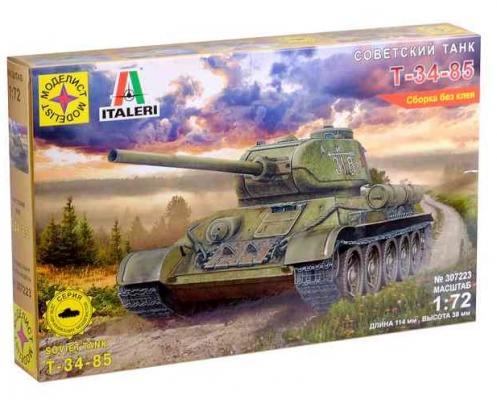 Фото - Танк Моделист Советский танк Т-34-85 1:72 камуфляжный танк моделист т 90 с микроэлектродвигателем 1 48 серый 304873