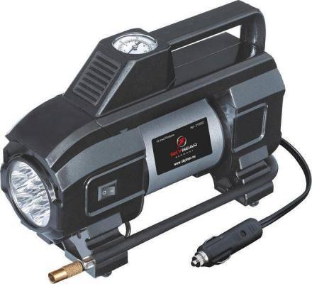 Компрессор двухпоршневой SKYBEAR 215020 с светодиодным фонарем 12 В 10 атм. 70 л/мин.