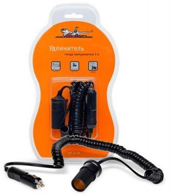 Удлинитель-прикуриватель AIRLINE ASP-3L-06 3 метра витой шнур прикуриватель удлинитель с витым шнуром 3 м airline asp 3l 06