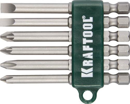 Набор бит Kraftool 26061-H6 6шт набор бит kraftool compact 10 26130 h10