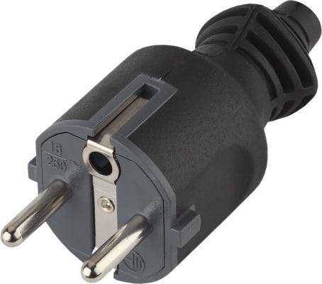 Вилка ЭРА V4(B) Б0019189 c/з 16A прямой ввод черная (10/200/6000)