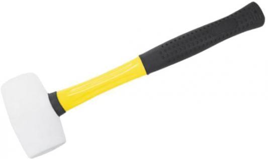 Киянка FIT 45502  резиновая белая фиброглассовая ручка 50мм ( 340гр.)