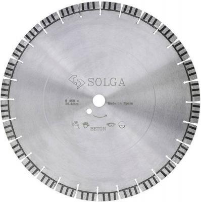 Круг алмазный SOLGA DIAMANT 23116400 professional-10 сегментный железобетон 400х25.4х20мм круг алмазный практика 030 702 da 230 22s 230 х 22 сегментный