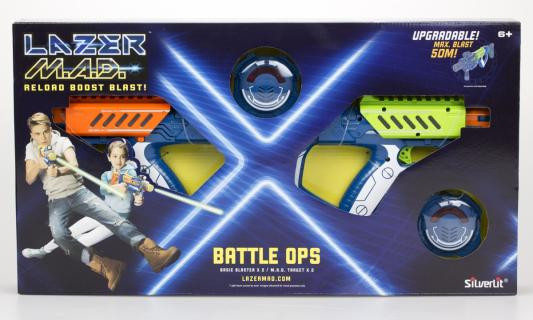 Купить Набор Silverlit Двойной набор (2 бластера, 2 мишени), разноцветный, 56 X 6 X 31 см, для мальчика, Игрушечное оружие