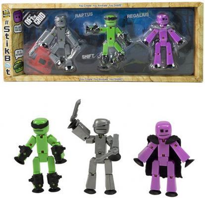 Игрушка 3 фигурки Stikbot Off the Grid, Raptus игрушка stikbot фигурка питомца