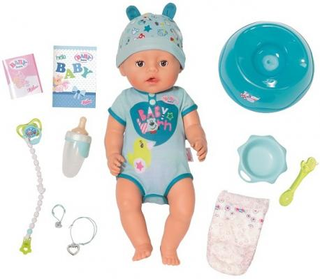Кукла ZAPF Creation BABY born 43 см плачущая писающая пьющая кукла zapf creation беби анабель 43 см плачущая 626368