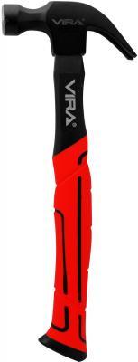 Молоток-гвоздодер VIRA 901045 450г с фиберглассовой ручкой кувалда с фиберглассовой обрезиненной ручкой vira 900180