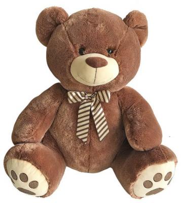 Мягкая игрушка медведь Fluffy Family Мишка Бантик искусственный мех наполнитель коричневый 60 см zildjian s family china 18