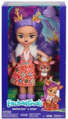 Кукла MATTEL Enchantimals mattel enchantimals fxm74 кукла с питомцем пэттер павлина