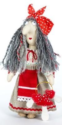 Набор для создания игрушки Перловка Баба Яга набор для создания игрушки перловка слоненок фантик высота 19 см