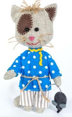 Набор для создания игрушки Перловка Домовитый кот Василий набор для создания игрушки перловка слоненок фантик высота 19 см