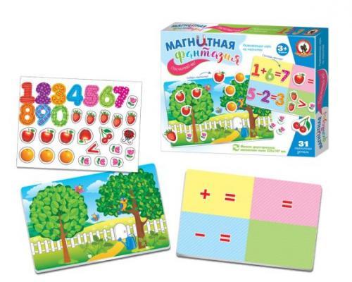 Купить Игра на магнитах Русский Стиль Посчитай-ка 5402, разноцветный, Мольберты и доски для детей