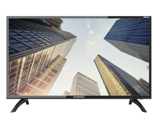 Телевизор Soundmax SM-LED 39M06 черный tv led soundmax sm led24m02 hd