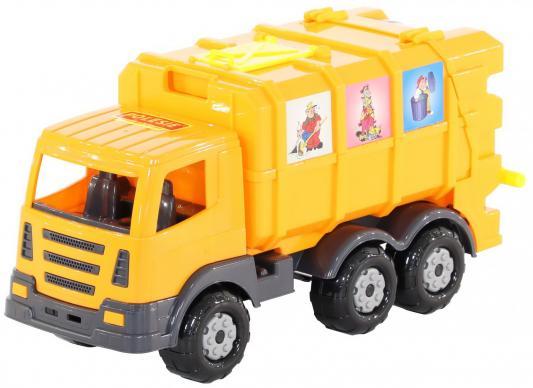Автомобиль коммунальный Полесье Престиж желтый лесовоз полесье престиж разноцветный 42 см 44198