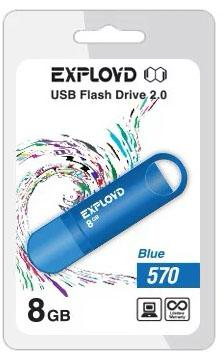 USB флэш-накопитель EXPLOYD 8GB-570-синий usb flash drive 4gb exployd 570 red ex 4gb 570 red
