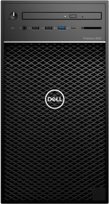 ПК Dell Precision 3630 MT Xeon E3 2124 (3.3)/8Gb/1Tb/SSD256Gb/P1000 4Gb/DVDRW/Windows 10 Professional 64/GbitEth/290W/черный пк iru office 226 mt a6 7400k 3 5 4gb 1tb 7 2k r5 windows 10 professional 64 gbiteth 400w черный