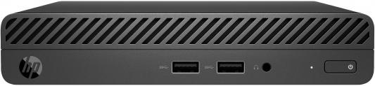ПК HP 260 G3 Mini i3 7130U (2.7)/4Gb/1Tb 7.2k/HDG620/Windows 10 Professional 64/GbitEth/WiFi/BT/65W/клавиатура/мышь/черный