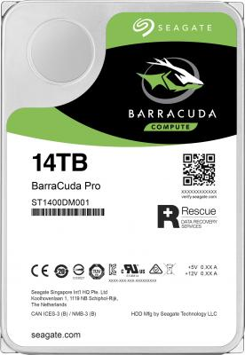 Жесткий диск Seagate Original SATA-III 14Tb ST14000DM001 Barracuda Pro (7200rpm) 256Mb 3.5 жесткий диск 10tb seagate barracuda pro st10000dm0004