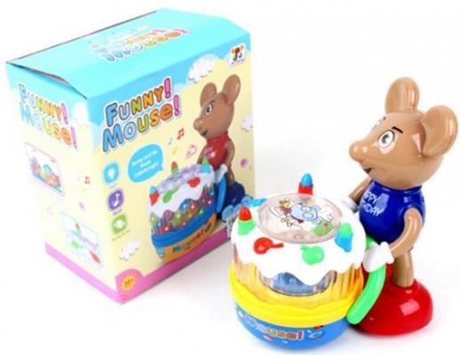 Купить Интерактивная игрушка Наша Игрушка Мышонок-именинник от 3 лет, разноцветный, пластик, унисекс, Игрушки со звуком