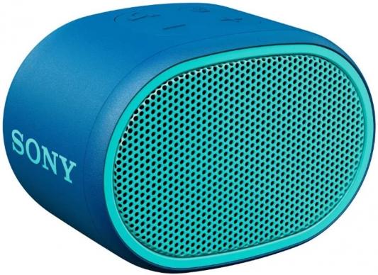 Колонка порт. Sony SRS-XB01 синий 3W 2.0 BT 20м 600mAh 1xAA (без.бат) (SRSXB01L.RU2)