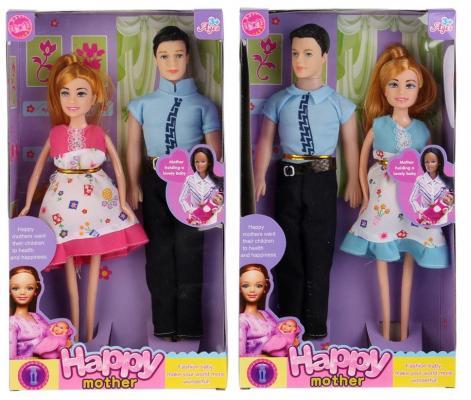 Кукла Shantou Кукла 29см беременная (съемный живот) + муж + младенец 29 см кукла yako m6579 6