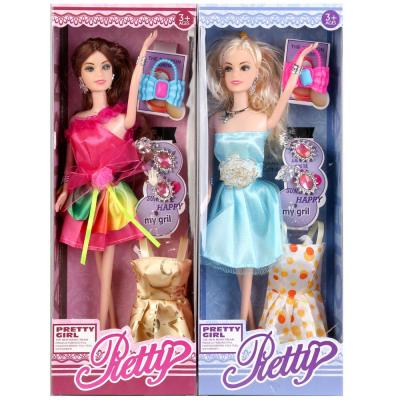 Кукла Shantou Кукла 29см с одеждой и аксесс., в ассорт. 9026B 29 см кукла болельщица 29см в син юбочке 1 аксесс шарнирн