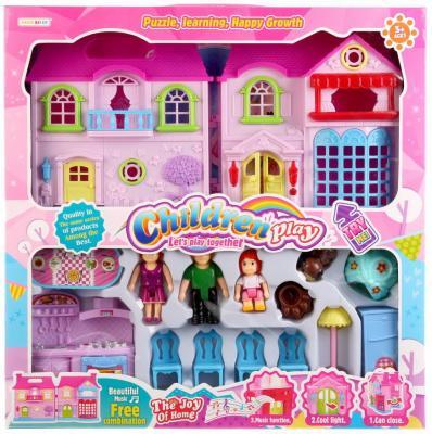 Дом для кукол, свет+звук, с мебелью и фигурками 8110B в кор. в кор.2*12шт дом для кукол свет звук с мебелью и аксесс в ассорт kb99 7 в кор 54 5 35 5 6 5см в кор 2 12шт