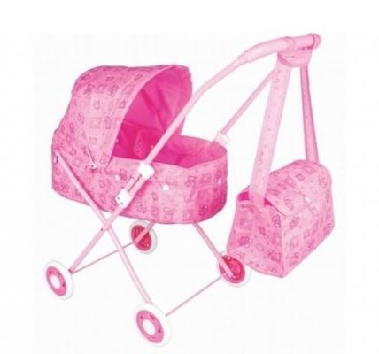 Коляска-люлька для кукол Shantou Коляска-люлька, с сумкой коляска люлька коляска люлька happy baby charlotte cream