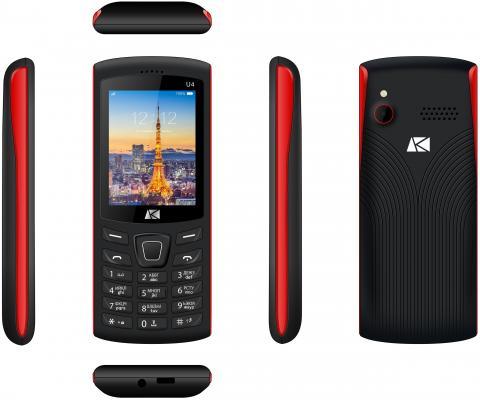 Мобильный телефон ARK U4 Benefit 32Mb красный моноблок 2Sim 2.4 240x320 0.08Mpix BT GSM900/1800 MP3 FM microSD max64Gb мобильный телефон jinga simple f200n черно красный