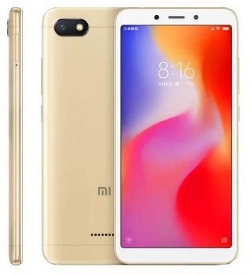 Смартфон Xiaomi Redmi 6A 32 Гб золотистый (18989) смартфон xiaomi redmi 6a 16 гб золотистый