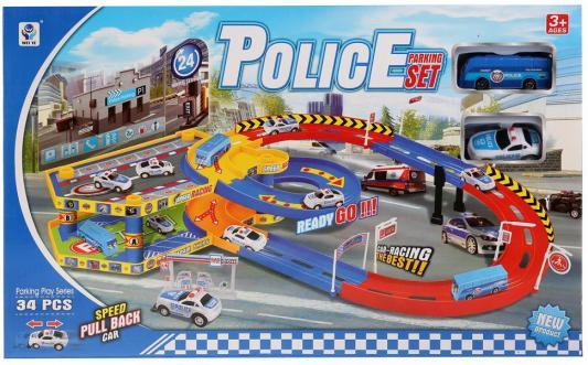 Купить Парковка полиция с машинками и аксесс. 5599-34A в кор. в кор.2*12шт, Shantou, Гаражи, парковки, треки