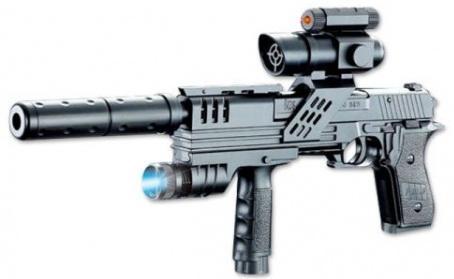 Купить Пистолет Shantou Gepai P2118-A1 черный, 42 х 18 х 5 см, для мальчика, Игрушечное оружие