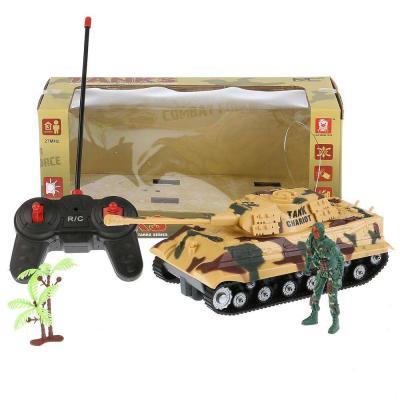 Купить Танк на радиоуправлении Shantou Танк р/у свет+звук, с фигуркой и аксесс. AKX521A пластик от 6 лет цвет в ассортименте, Радиоуправляемые игрушки
